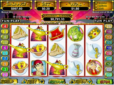 free aladdins wishes slot payouts by state